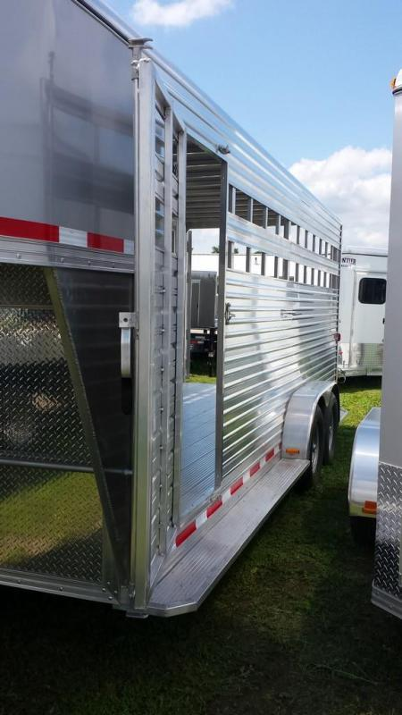 2015 Closeout! Save $1250 -  Frontier Aluminum Trailers 20ft Gooseneck Livestock Series Trailer