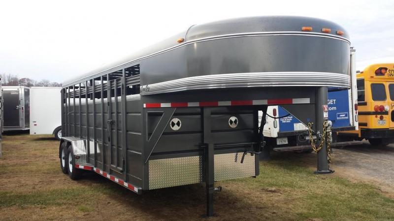 2017 CornPro Trailers 7x20 10k Gooseneck Livestock Trailer