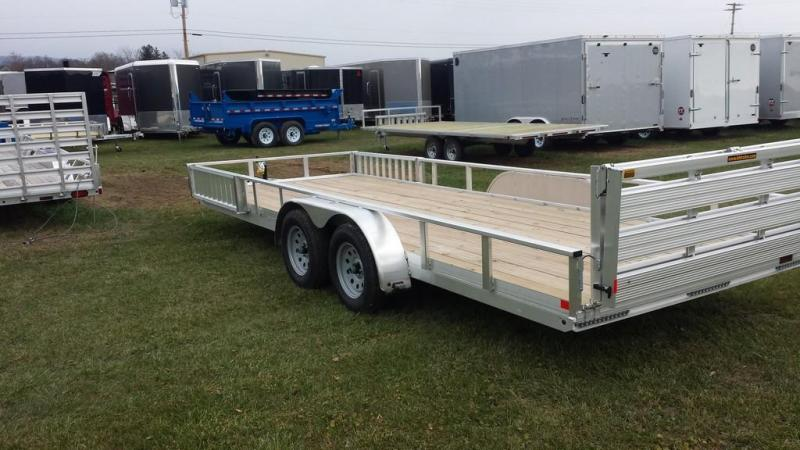 2017 H and H Trailer 7X20 Aluminum Tandem-Axle ATV Trailer