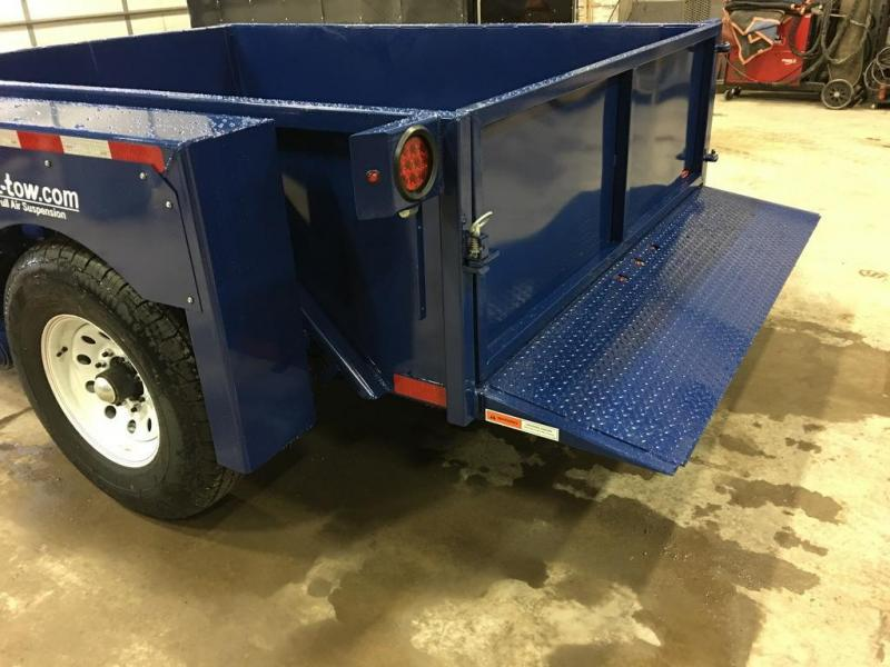 2017 Air Tow 6x8 Drop-Deck Air Ride Utility Trailer