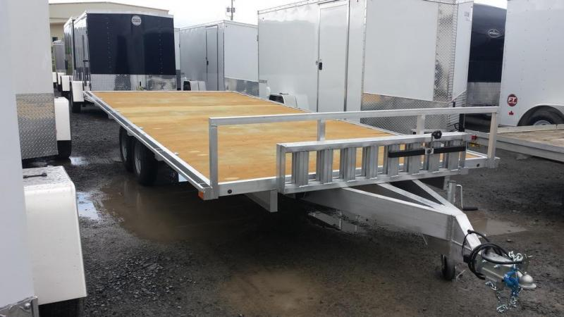 2016 Worthington Trailers 8x18 Aluminum Deckover 4 Place ATV Trailer