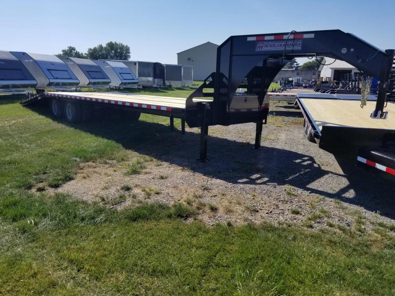 2018 Midsota FB32-GN Gooseneck Power Beavertail Flatbed Trailer