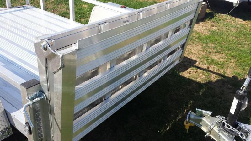2018 Stealth Trailers 5x8 Alum Open Deck Rail Utility Trailer