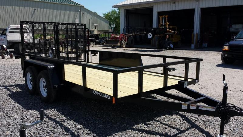 2017 Holmes 6-10x14 Commercial Landscapers Utility Trailer