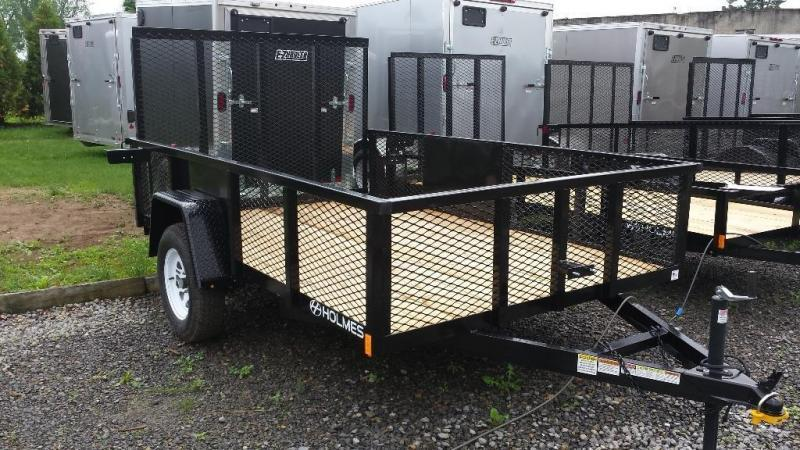 2016 Holmes 6-4x10 Commercial Mesh Side Utility Trailer