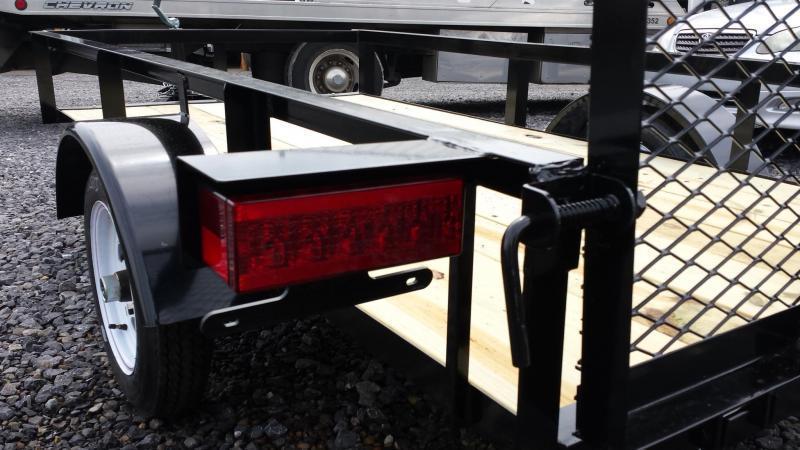 2017 Holmes 4x8 Open Side Rail Utility Trailer