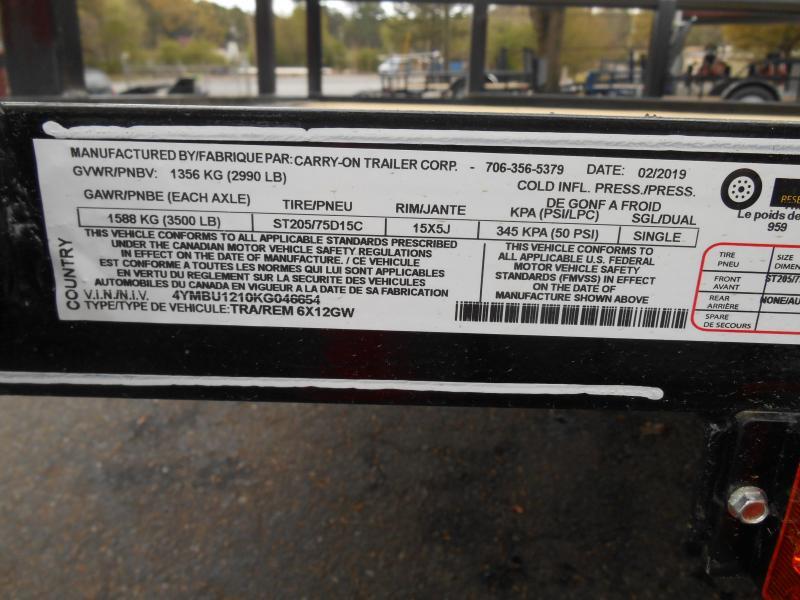Carry-ON 76x12GW Utility Trailer