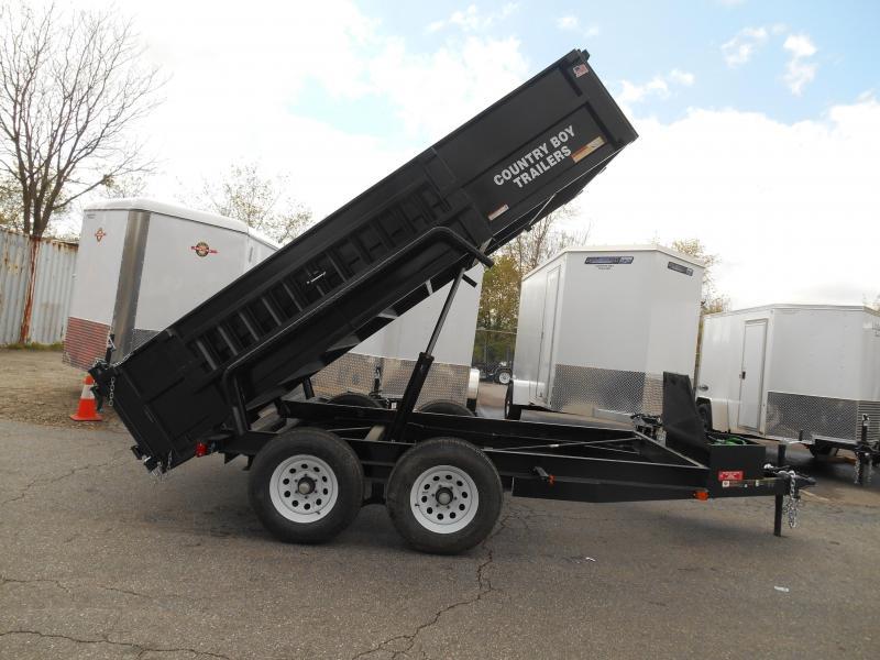 6x12 Dump 2-5200# W/Wood Side
