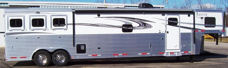 2017 Lakota Trailers Big Horn 8317 Front sofa Floorplan Horse Trailer
