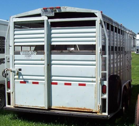 1998 Titan Trailers Classic Stock Horse Trailer