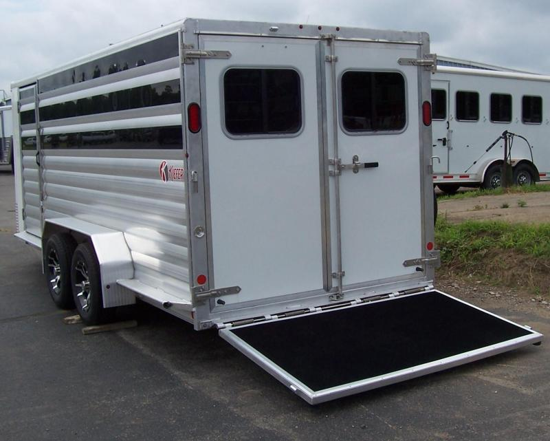 2017 Kiefer Manufacturing Low Pro pen trailer Livestock Trailer