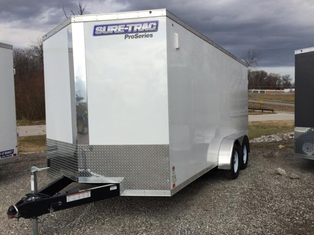 2017 Sure-Trac STW Commercial Wedge Front Enclosed Cargo 7 x 16
