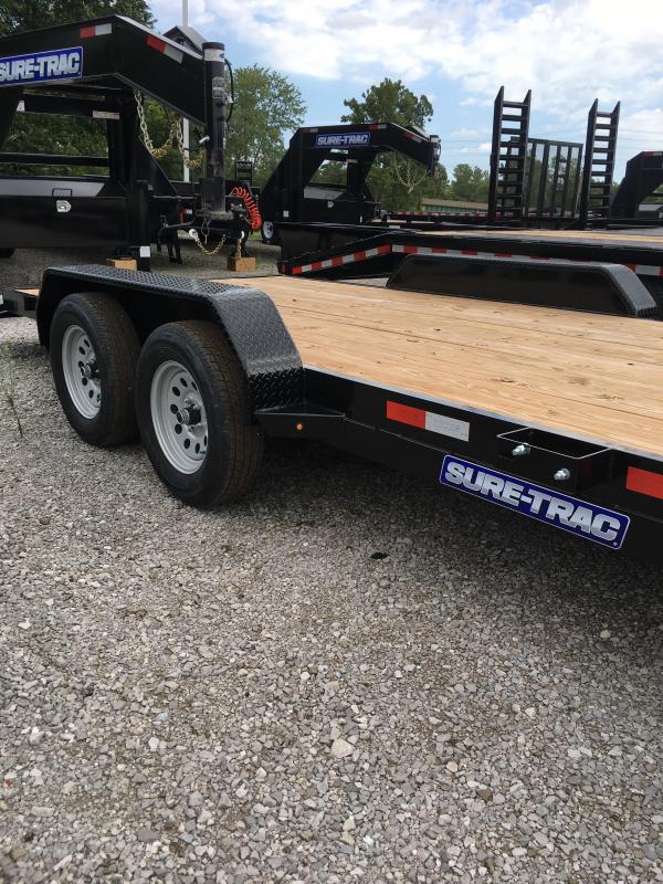 2018 Sure Trac 7 X 20 Wood Deck Car Hauler 7k Camper Trailers