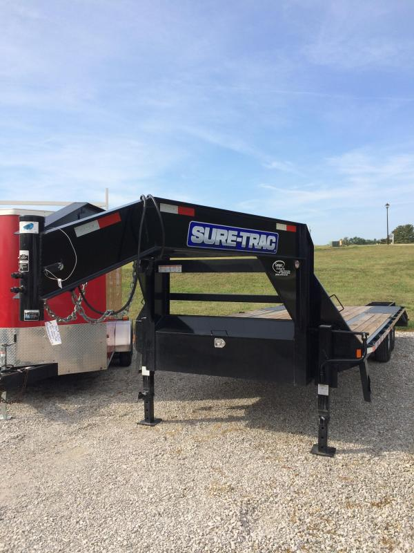2017 Sure-Trac GN Deckover 8.5X205 Flatbed Trailer
