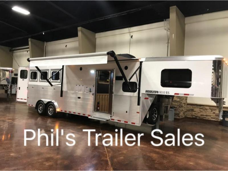 2018 3 Horse Living Quarter Sundowner Trailers horizon Horse Trailer