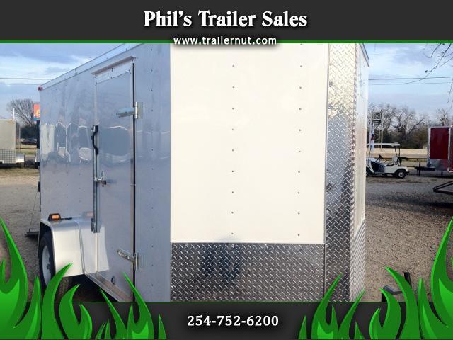 Enclosed  Trailer 6x12sa V nose Ramp door
