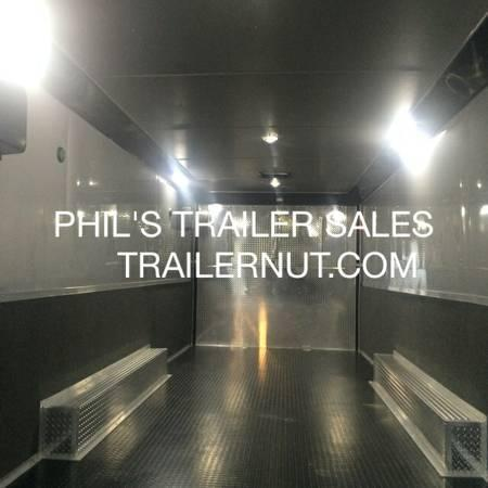 """2017 Continental Cargo Auto Master 32 ft 12"""" extra ht  Black loaded race trailer"""