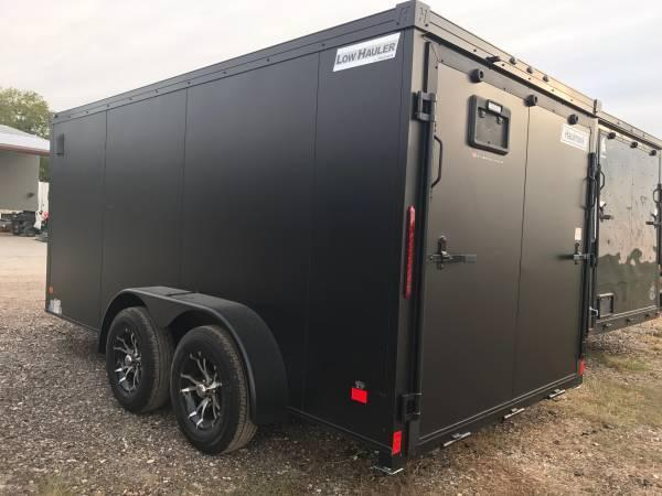 Haulmark 7x12  V nose low hauler Motorcycle Trailer enclosed trailer