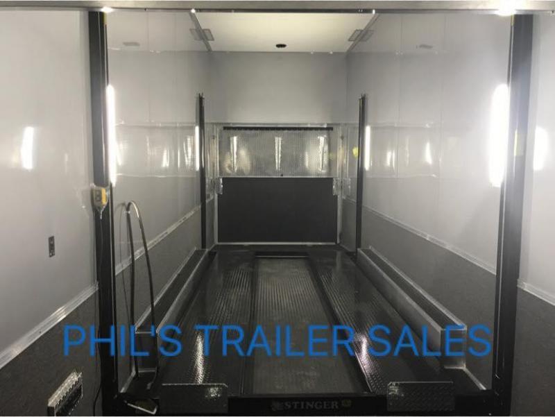 2018 Cargo Mate 28 STACKER  ALL ALUMINUM Car / Racing Trailer