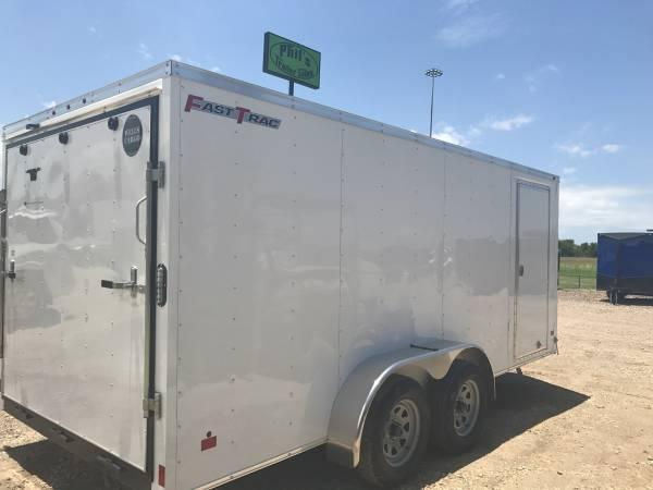 2017 Wells Cargo 7x16 + v Enclosed trailer Fast Track Cargo / Enclosed Trailer