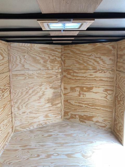 Lark Cargo Trailer 7x14 WHITE Ramp V nose