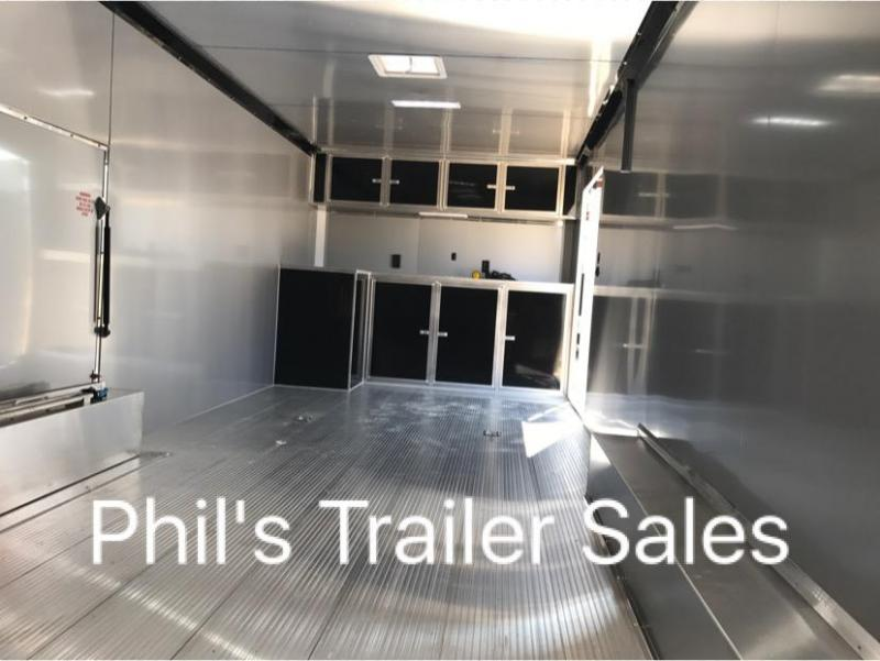 2018 28 ALL ALUMINUM 7 ft Escape door Car / Racing Trailer