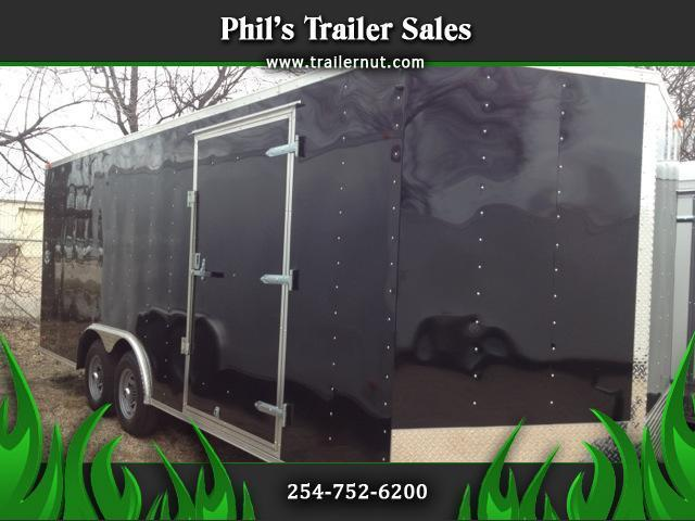 Continental Cargo 7' tall  8 5 x 24 with 5200 lb axle Enclosed trailer BLACK