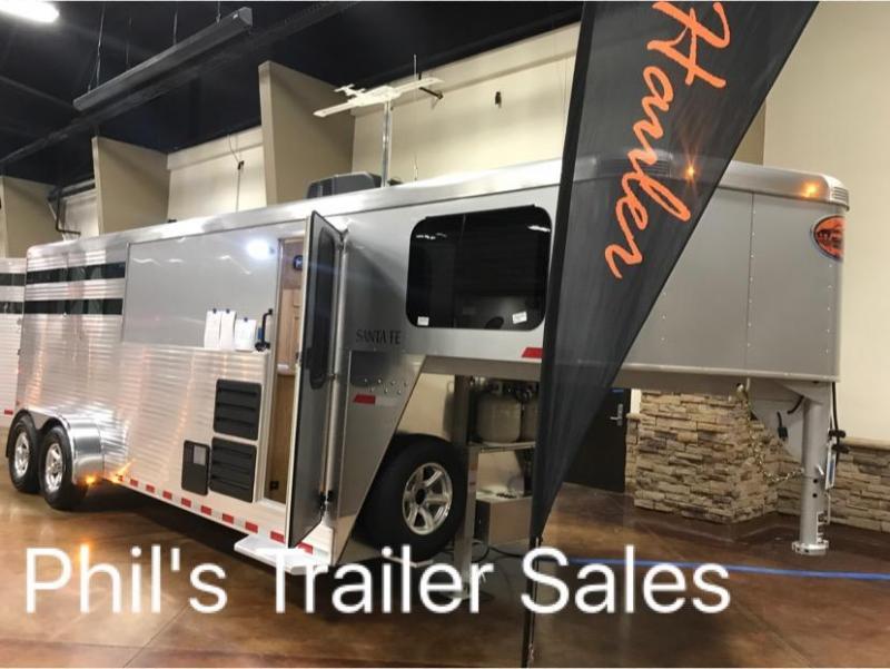 2018 3 Horse Living Quarters Sundowner Trailers Santa Fe Horse Trailer