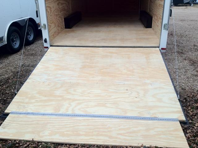 Lark Cargo Trailer 8 5x24 5200lb axles 24 ft plus 3 ft v nose