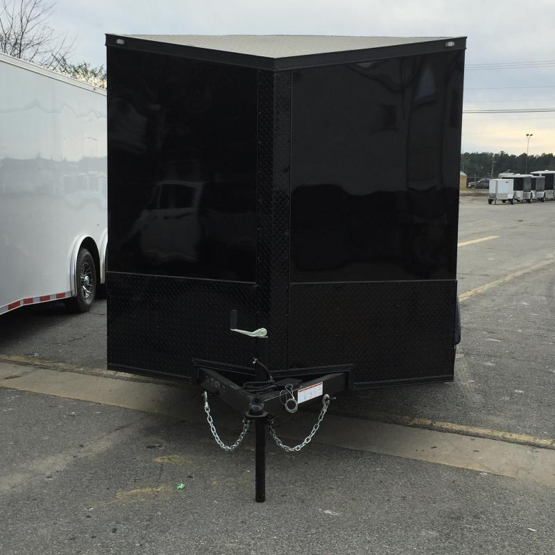 Enclosed Trailer 7x12  Slant Nose Chromed Out Motorcycle Trailer