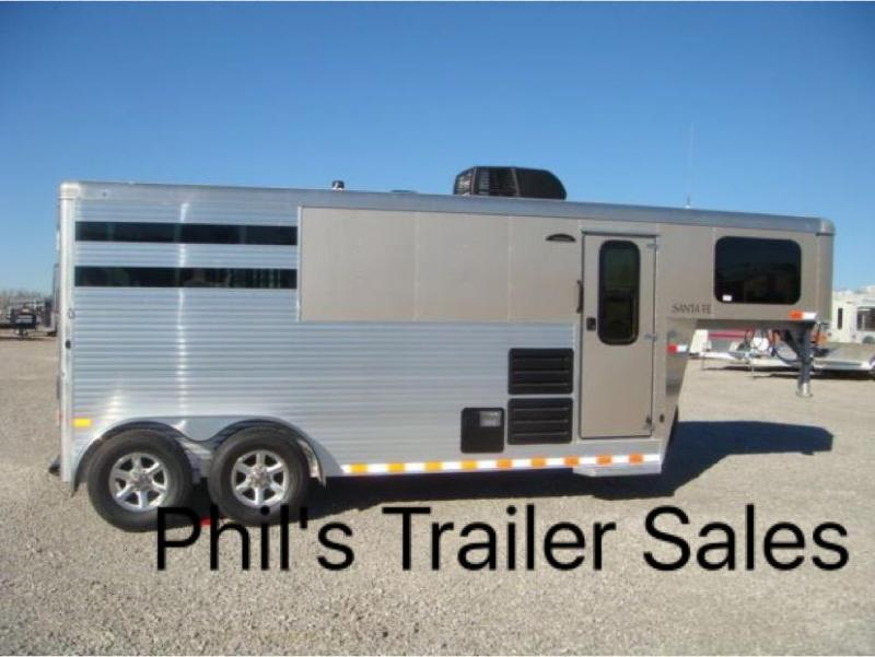 2018 2 Horse Sundowner Trailers Santa Fe living quarters Horse Trailer
