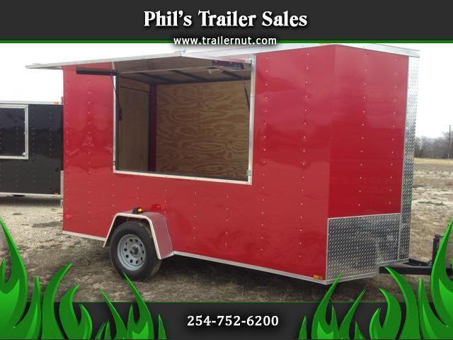 Lark Cargo Trailer 6x12 concession door
