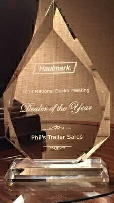 Haulmark # 1 dealer award !