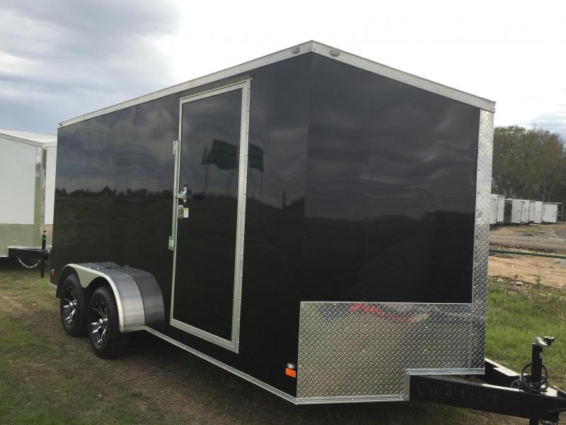 SCREWLESS ALUMINUM WHEELS  7x16 +2 Slant nose Cargo / Enclosed Trailer