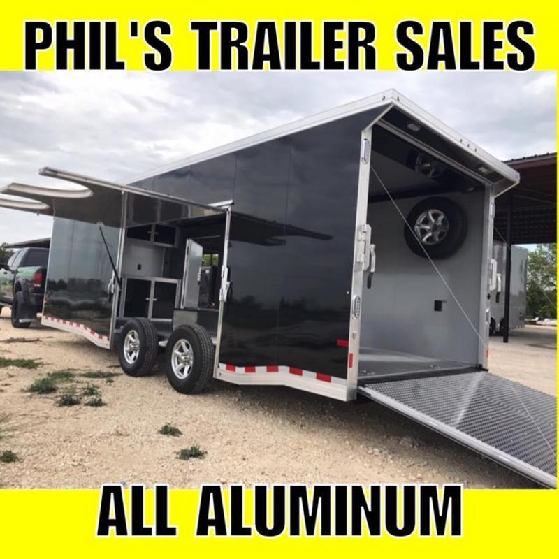 2018 Sundowner Trailers 24 Aluminum 7 ft ESCAPE DOOR Car / Racing Trailer