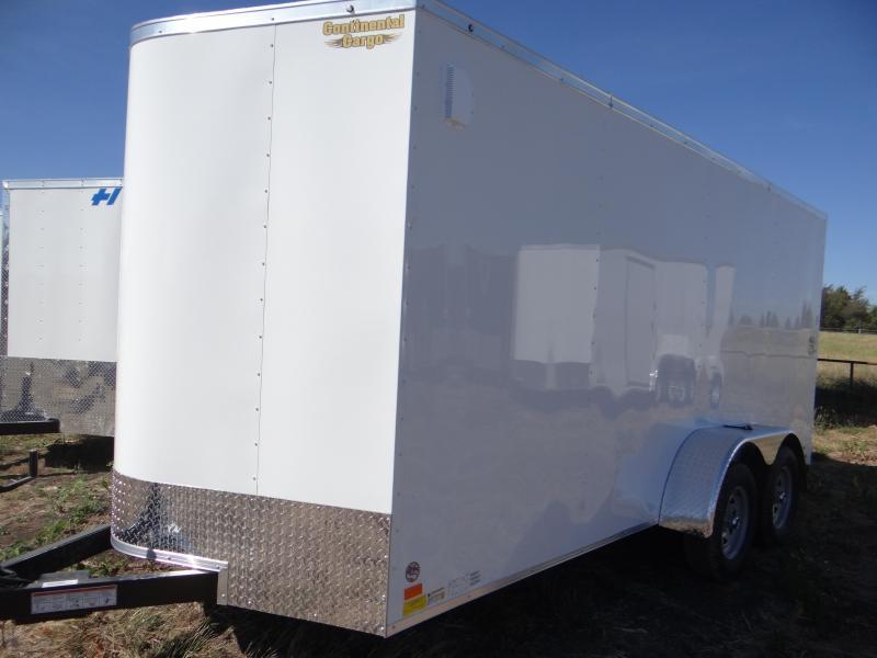 "2017 7x16 Continental Cargo 6'5"" interior RAMP Cargo / Enclosed Trailer"
