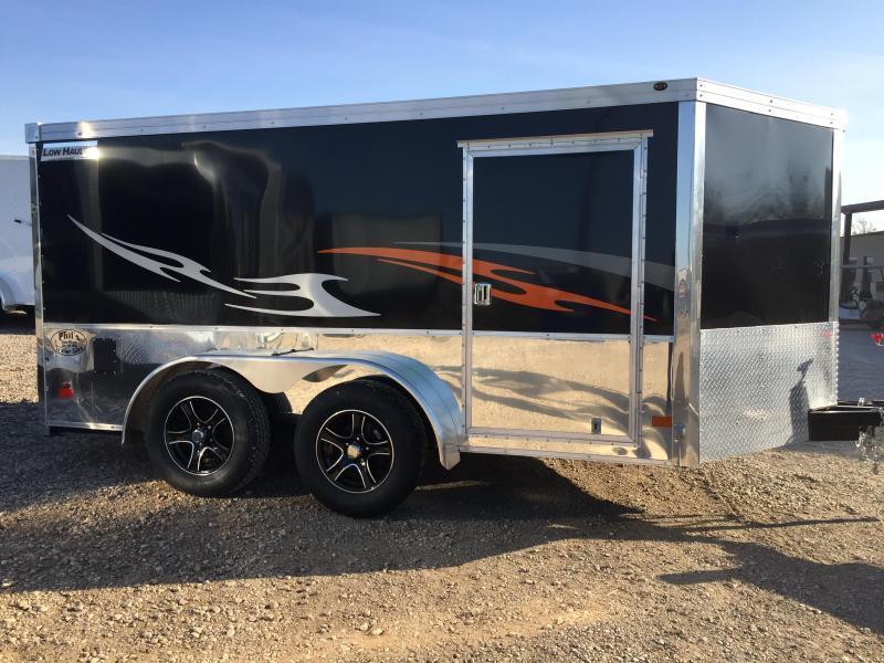Haulmark 7x14  V nose low hauler Motorcycle Trailer enclosed trailer