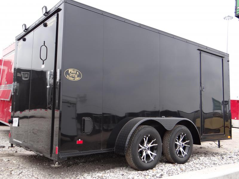 2018 Cargo Mate Black out motorcycle trailer Motorcycle Trailer