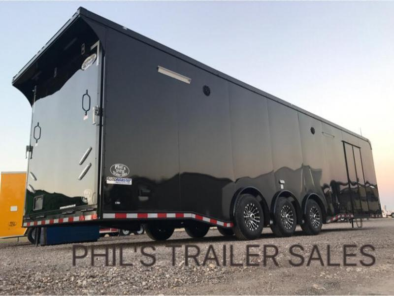 beautiful Race Trailers With Bathrooms Part - 18: 34u0027 BATHROOM - SHOWER TRAILER AUTO MASTER Car - Racing Trailer enclosed  trailer