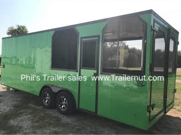 8 5 x 24 porch trailer concession loaded out Bbq trailer