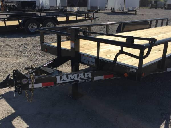 83x20 14k gvwr Pipe Top Lamar POWDER COATED Trailers Equipment trailer Equipment Trailer