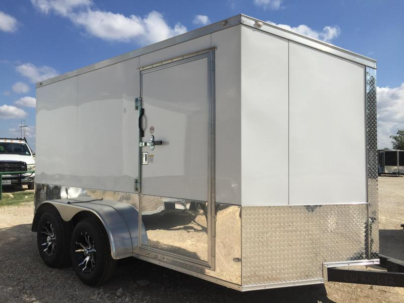 7x12ta enclosed   Trailers Slant Nose Motorcycle Trailer