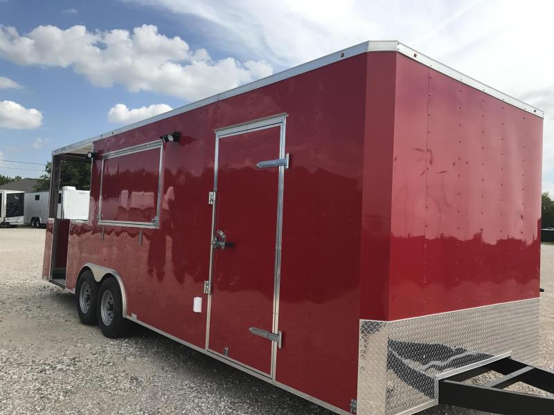VENT A HOOD   Trailer 8 5 x24 porch trailer concession loaded out B