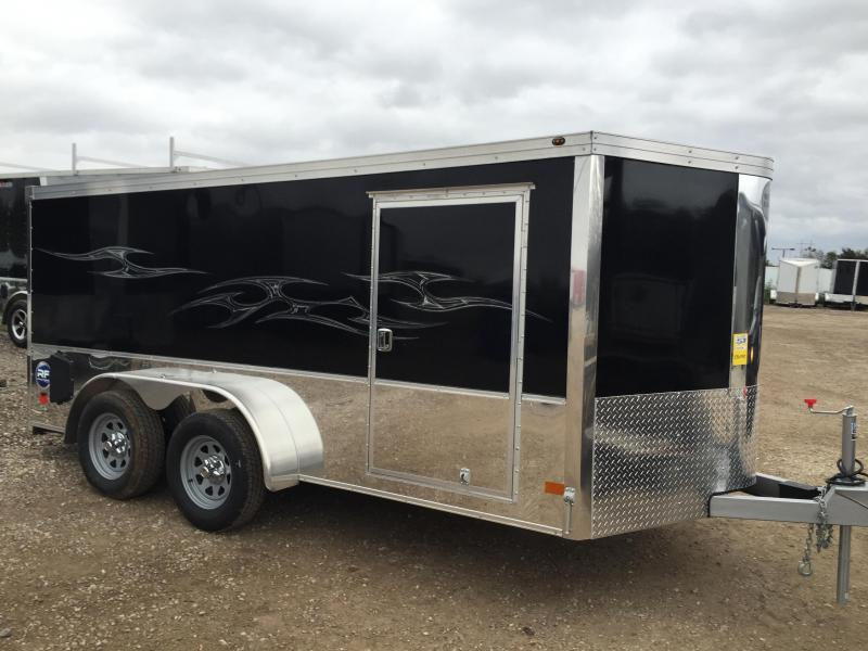 2017 Wells Cargo 7X14 ROAD FORCE Motorcycle Trailer