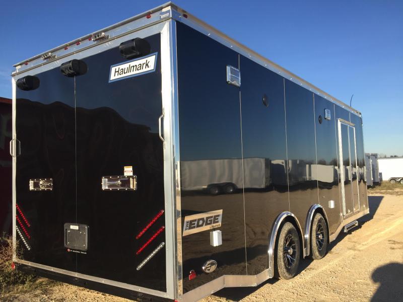 2016_24_Haulmark_Edge_Car__Racing_Trailer_LOADED__r3gYqu 24' haulmark edge enclosed race trailer car hauler enclosed