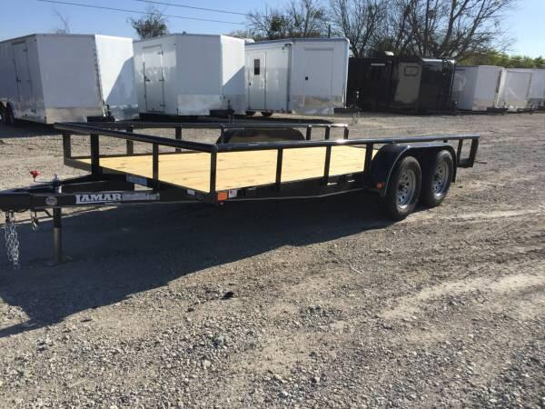 Lamar Trailers 77x16 utility trailer TREATED FLOOR BULL DOG COUPLER Utility Trailer