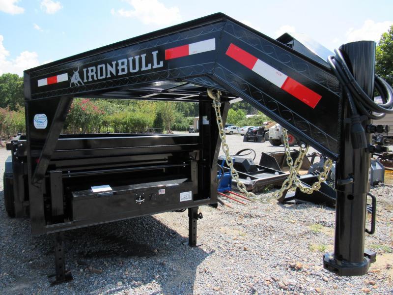 "2017 Iron Bull 83""x 16' Gooseneck Low-Pro Dump Trailer"