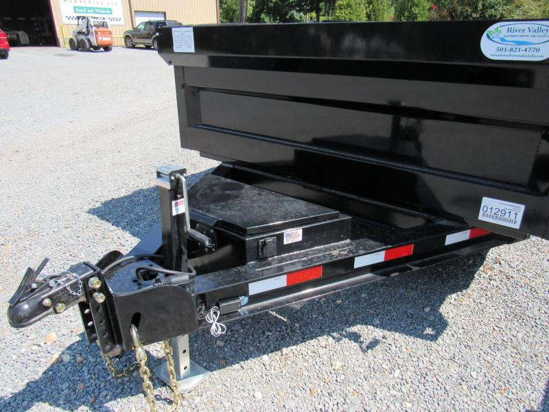 "2017 Iron Bull 83""x 16' Low-Pro Dump Trailer"