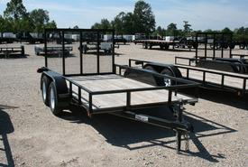 2015 Lone Wolf lone wolf trailer 78x12 angle 2/3500 - gate