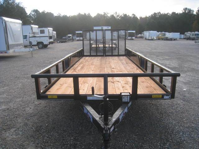 2018 Texas Bragg Trailers 18' Tandem Axle Utility with Reinforced Rear Gates